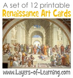 Renaissance Art Cards - Layers of Learning Printable, free, art appreciation