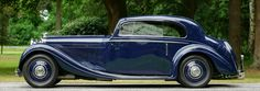 Bentley 3.5 litre 'Pillarless Saloon Coupe' by Gurney Nutting, year 1936.