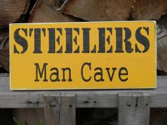Steelers Man Cave wood sign for the Man Cave by YouSaidWhat,
