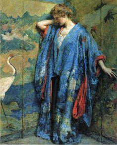 Robert Lewis Reid (1862-1929), Blue and Yellow - 1910