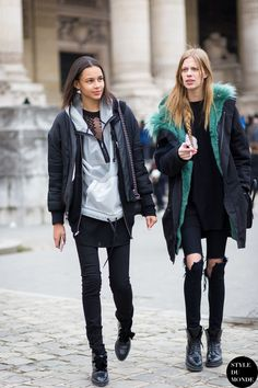 Binx Walton and Lexi Boling Street Style Street Fashion Streetsnaps by STYLEDUMONDE Street Style Fashion Blog
