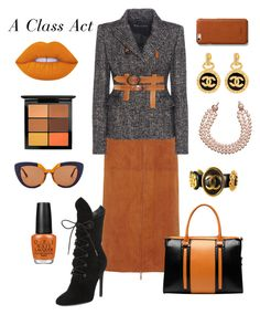 """""""A Class Act"""" by laineys on Polyvore featuring The Row, Tom Ford, Kendall + Kylie, Vicenzo Leather, Chanel, Lime Crime, OPI, MAC Cosmetics, Marni and Shinola"""
