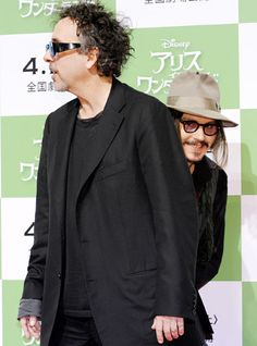 Johnny Depp photo bombing behimd Tim Burton. This one is probably my favorite