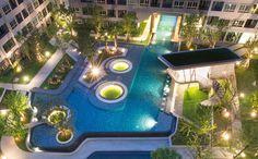 Landscape Design : Redland-scape.LTD Resort feeling in town Project : Elio Del Ray by Ananda Development #redlandscape