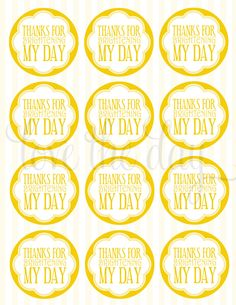 Yellow Sunshine Birthday PRINTABLE Party Favors from by lovetheday, $5.00