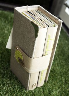 Oooh, idea!  A removable cover to put several bound notebooks in.  For my art journal series!