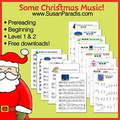 Today I am posting some Christmas music I've arranged for my students over the years. I'm listing it here to share with you. I'll try to group it by level. But when it comes to arranging Christmas ...