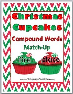 Christmas Cupcakes Compound Words