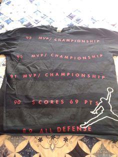 JORDAN JUMP MAN STATS NIKE T SHIRT HISTORY 2008 SZ XL BASKETBALL BLACK RED #JordanNike #GraphicTee