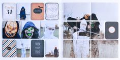 Pages by Juli Jones featuring the Halloween Themed Cards.