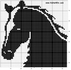 cavalos Baby Boy Knitting Patterns, Fair Isle Knitting Patterns, Knitting Charts, Loom Patterns, Easy Cross Stitch Patterns, Simple Cross Stitch, Cross Stitch Designs, Crochet Horse, Pixel Crochet