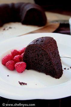 Receta de la torta de chocolate Quinoa | Receta de Pastel de chocolate húmedo