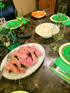 St. Paddy's day traditional family meal. I used my mom and dads first serving dishes. They're 48 years old. She passed them to me and I'll pass them onto my boys. We keep this tradition alive, especially on St. Patrick's Day.