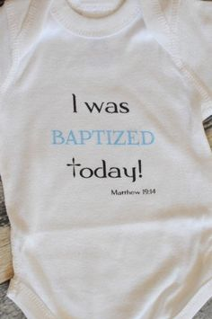 Baptism Onesie, Baptism Outfit. Available to order at www.reagantwentyfive.com 25% of all sales are donated to help girls living with Turner Syndrome.
