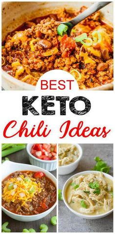 Get READY for the BEST keto chili! 10 low carb chili recipes to die for! Gluten free chili that will be loved by all. Amazing keto friendly dinner for family and friends. Some of the best keto chili low carb! Great keto diet dinner and keto lunch for Low Carb Chili Recipe, Chili Recipes, Soup Recipes, Diet Recipes, Quick Recipes, Keto Foods, Ketogenic Recipes, Ketogenic Diet, Birthday Dinner Recipes