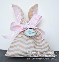 Bunny ears bag for Easter - with video tutorial