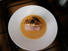 Pain de veau, cannoli avec pommes de terre au fromage ricotta,câpres et la sauce tomate légère Gino D'Aquino