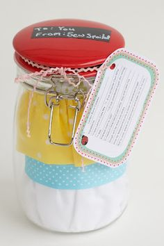 Sew Spoiled: Pickled Apron Tutorial ...Cute way to package a gift for Mother's Day