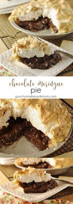 Chocolate Meringue Pie - my grandmother's recipe