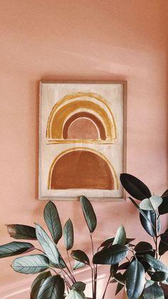 pink interior inspiration Wall decoration rainbow in natural colors Design Room, Deco Design, Color Inspiration, Interior Inspiration, Decoration Inspiration, Decor Ideas, Art Mural, Wall Art, Framed Art