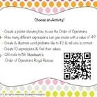 Order of Operations Stations! Get your students out of their desks and up and moving by disguising a worksheet as stations! Students will move around the room solving twenty+q...
