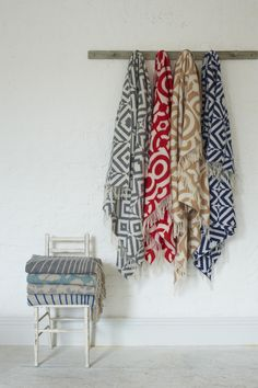 Clerkenwell Design Week 2014 continued: Blankets and rugs by Loophouse Make Blanket, Wool Blanket, Season Colors, Interior Accessories, Handmade Rugs, Portfolio Design, Wool Rug, Color Change, Contemporary Design