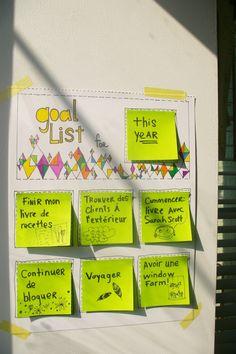 Goal list!