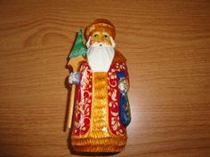 Vintage Father Frost Chrismas Figurine Made in Russia Signed