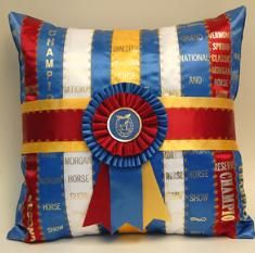 Morgan Horse Pillow -- I would do this with my ribbons... you know, if I had any to speak of.