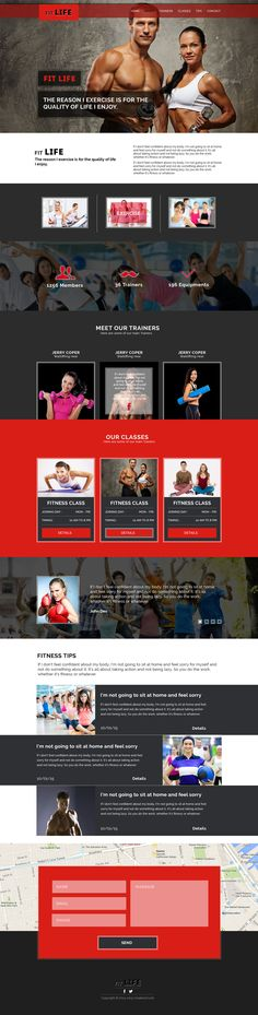 FitLife: Fitness One Page PSD Template - ByPeople