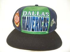 """New! NBA Throwback Dallas Mavericks Western Conference Flatbill Embroidered Snapback Starter Cap RARE! by NBA. $29.50. Throwback Dallas Mavericks Cap. Gray Underbrim. Officially Licensed NBA Product. Drew Pearson. Black cap with Green & Blue front and side panels.  """"Dallas Mavericks"""" is embroidered on front panel. """"Dallas Maverics"""" and small logo are embroidered on the left front panel. """"NBA Western Conference logo is embroidered on the right front panel. Drew Pearson """"D..."""