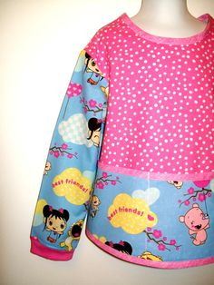 Child's Long Sleeve Art Smock  Ni Hao KAI LAN and Best Friends. Nickelodeon. Size Medium by pinkiepetunia, $18.00