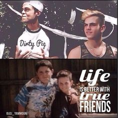 James Yammouni and Daniel Sayhounie then and now