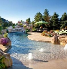 Indeed, there are lots of swimming pool ideas that may offer smart shape to save more space in the home. Therefore, it's tough to say that there's an ideal pool shape for smaller backyard. A little round pool has a… Continue Reading → Zero Entry Pool, Beach Entry Pool, Beach Pool, Small Swimming Pools, Swimming Pool Designs, Backyard Patio, Outdoor Pool, Backyard Ideas, Backyard Beach