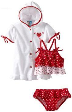 Baby Bunz-Girls Infant Hearts N Dots, Red/White, 18 Months Baby Bunz. $19.00