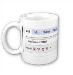 Wat vind je van deze Facebook koffie mok? Meer gave koffie mokken ontdek je hier http://www.kantoorruimtevinden.nl/blog/de-28-vetste-koffie-mokken-voor-nerds/