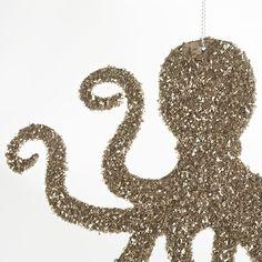 OH MY GOD I NEED A GLITTER OCTOPUS!!!!!!! Wisteria - Holiday - Holiday Decor - Trim a Tree - Nautical Glitz Ornaments - Set of 12 Thumbnail 4