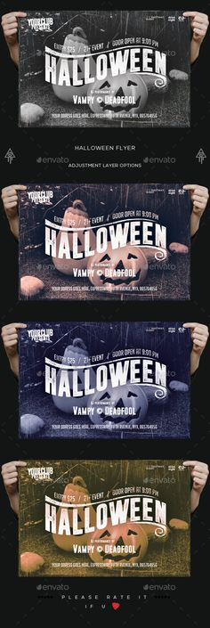 Halloween Party Flyer  — PSD Template #black #print • Download ➝ https://graphicriver.net/item/halloween-party-flyer/18188505?ref=pxcr