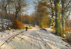 Peder Mørk Mønsted – private collection. Title: Winter Landscape. Date: 1917…