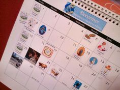 """December & January Calendar Stickers for Catholic Families - Free download of these cute calendar stick-ons. There are many liturgical events and saint's days we can celebrate during the Christmas season. These darling little stickers will brighten your calendar and help you remember the days and saints you especially want your family to celebrate. Catholic Child says """"Thanks Lacy!"""""""