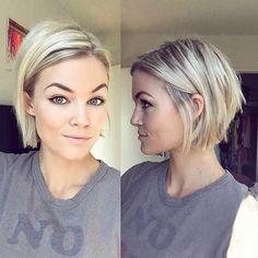 7-Kurz Abgehackt Frisur für Feines Haar