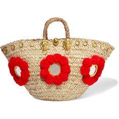 Muzungu Sisters Sicilian embellished straw basket (€385) ❤ liked on Polyvore…
