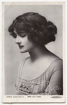 British Actress Lily Elsie 1886-1962 on Champagne for Lulu
