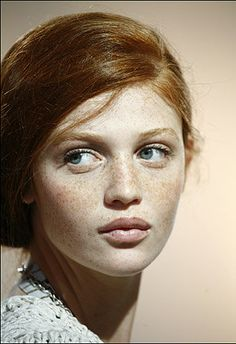 dreamy hair and love love love freckles and pale skin