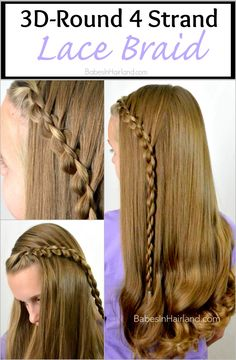 3D-Round 4 Strand Lace Braid from BabesInHairland.com #hairstyle #hair #braid #lacebraid