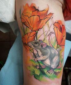 @thejorell  #perfecttattooartists #perfecttattoo #watercolor #watercolortattoo #watercolour #watercolourtattoo #colourtattoo #colortattoo #flowers #rodent #beautiful #tattoo by perfecttattooartists