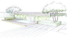 Jardin Landscape Architecture Design, Landscape Plans, Plant Design, Garden Design, Plan Sketch, Garden Drawing, Green Garden, Garden Planning, How To Plan