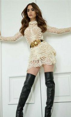 Lily Collins, Wonder Woman, Sweaters, American Flag, Dresses, Women, Fashion, Vestidos, Moda