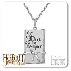 """The  Official """"The Hobbit"""" Deed of Contract Pendant handcrafted by Middle Earth New Zealand's license holder.  New Zealand home of the Lord of the Rings and """"The Hobbit"""" Trilogys.  All of our Lord of the Rings and Hobbit jewellery is made to be worn"""