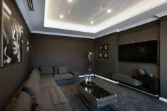 80 Home Theater Design Ideas For Men Masculine Movie Room Retreats gt; 80 Home Theater Design Ideas For Men Masculine Movie Room Home Theater Design Ideas For Men Masculine Movie Room Retrea Home Theater Basement, Home Cinema Room, Home Theater Furniture, At Home Movie Theater, Best Home Theater, Home Theater Setup, Home Theater Speakers, Home Theater Rooms, Home Theater Seating